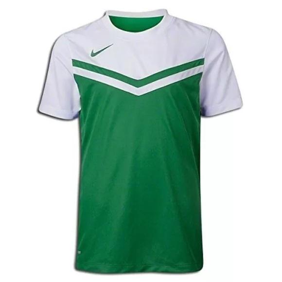 d81887d966a89 Nike Tops | Team Soccer Jersey Women Medium Green White | Poshmark